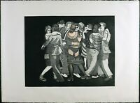 Vintage Etching, VTG Print, Limited Edition Numbered 26/100, H.C, Canger Signed