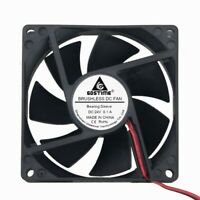 2pcs 24V 2Pin 8cm 80mm 80x80x25mm DC Bruhless Cooling Heatsink Fan Big Air Flow
