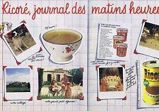 Publicité Advertising 016 1981 Ricoré journal des matins heureux (2 pages)