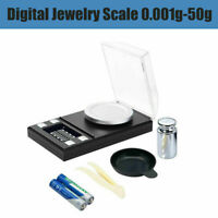 Mini LCD Electronic Pocket Digital Scales 0.001g 50g Jewellery Gold Weighing AU