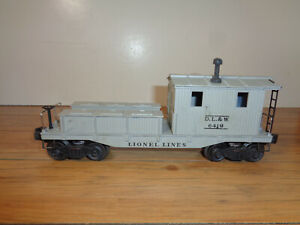 LIONEL O GAUGE # 6419 WRECKING CAR, INSERT AND BOX