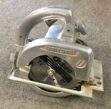 "Vintage CRAFTSMAN Circular Saw 7 1/4"" Shiny Aluminum - RARE"