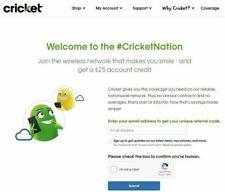 FREE Cricket Wireless Referral Code for $25 Account Credit (Read Description)