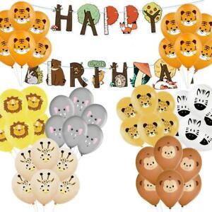 5-10PC Jungle Animal Latex Balloon Banner Children Gift Birthday Party Decor HOT
