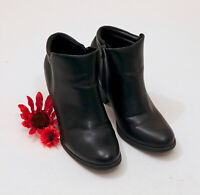 Mia Black Faux Leather Ankle Boots US 10M