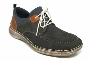 Rieker Mens Navy Leather Casual Comfort Lace Up Shoes UK Size 7-12