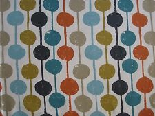 "Harlequin Scion Curtain Fabric ""taimi"" 3 Metres Sulphur Tangerine Kingfisher"