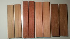 Mixed lot #2 thin craft wood slabs: Hickory,Lacewood,Red Grandis,Yellowheart....