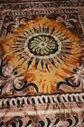 NEW STUNNING BROWN YELLOW BEDSPREAD BED THROW DOUBLE WALL HANGING DOUBLE/QUEEN
