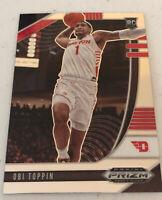 2020 Panini Prizm Draft Picks Basketball Obi Toppin #7 RC Rookie New York Knicks