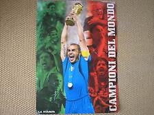 MONDIALE 2006 ITALIA CAMPIONI DEL MONDO LA STAMPA POSTER MANIFESTO SUPPLEMENTO