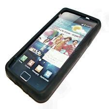 Silikon TPU Handy Cover Schwarz für Samsung i9100 Galaxy S2 + Displayschutzfolie