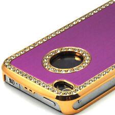 Nouveau De Luxe Cristal Diamant étui coque rigide pour APPLE iPhone 4 4G Violet