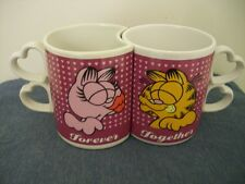 GARFIELD Forever Together ENESCO Kissing Coffee Mug Set 2 Vintage Cup
