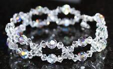 Armband mit Swarovski® Kristallen glitzernd schillernd Armkette in Schmuck Box