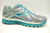 Brooks GTS 16 Gray Blue Mesh Lace Up Athletic Running Shoes Women's 7.5 D