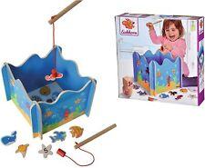 Eichhorn 100002089 - Angelspiel mit zwei Angeln, Holzspielzeug