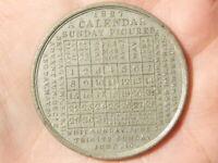 1827 Calendar Sunday Figures By T W INGRAM Birmingham King George IV Medal  #R21