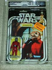 Vintage Star Wars 1979 KENNER AFA 80 RED SNAGGLETOOTH ANH 21 Back Card MOC CLR B