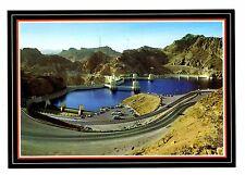 Hoover Dam Postcard Arizona Approach Reservoir 255 Sq Miles New Colorado River