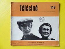 Téléciné n° 149 1969 Morvan Lebesque Roger Louis Cecil B. de Mille Bonnot