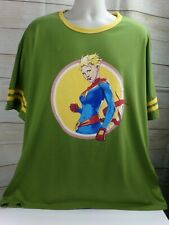 Loot Crate Captain Marvel Varsity T-Shirt shirt Size 3 X Large