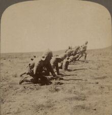 The Worcesters Leading the Attack on a Kopje Held by Boers - Boer War Stereoview