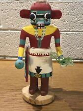 """Vintage, 1950's Traditional Hopi Katsina /Kachina Cottonwood 8"""" Red Ogre"""
