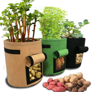 Potato Tomato Veg Grow Bags Durable Re-Usable Patio Plant Grow Bag 4-10 Gallon