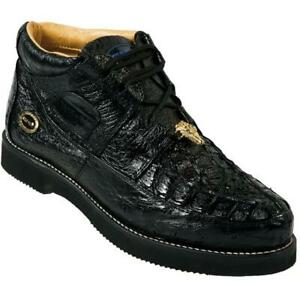 Men's Wild West Caiman With Ostrich Casual Shoes Handcrafted