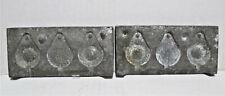 Vintage Ace Cast Aluminum #8 Sinker Mold, Made Cleveland