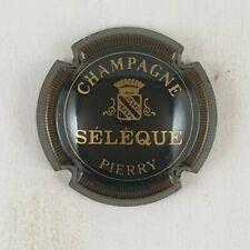 capsule champagne SELEQUE n°7 noir striée sans blanc