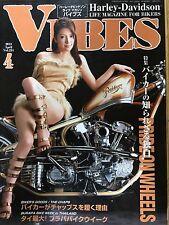 "Japanese Harley-Davidson Life Magazine For Bikers ""VIBES"" April 2013 Vol.234 F/S"