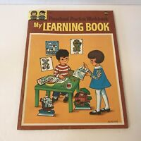 Vtg MY LEARNING BOOK Preschool Practice Wookbook 3937 Treasure 1954 Busy Days