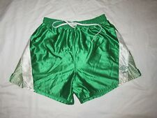 Rare Vintage 90s Umbro Soccer Gym Shorts Shinny Green Mens Large Made in USA