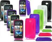 NEW S LINE GEL PHONE CASE COVER FOR HTC DESIRE 601 HTC ZARA 601 + SCREEN GUARD