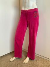 Juicy Couture Size Medium Pink Velour Sweatpants Loungewear