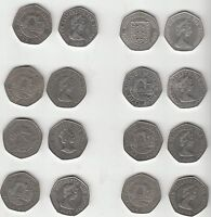 Jersey & Guernsey Obsolete large format 50p coin - multi listing