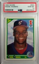 Frank Thomas 1990 Score #663 Rookie RC, Graded PSA Gem Mint 10 ! HOF White Sox !