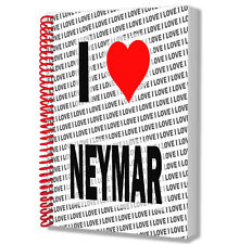 I Love Neymar - A5 Notebook Pad Diary Drawings Birthday Christmas Gift