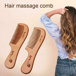 Natural Sandalwood Wide Tooth Comb Wooden Hair Care Care Wood Comb Sandal T7Q0
