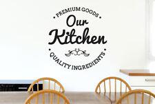 Our Kitchen Premium Ingredients Vinilo Pegatinas De Pared Adhesivo Decoración