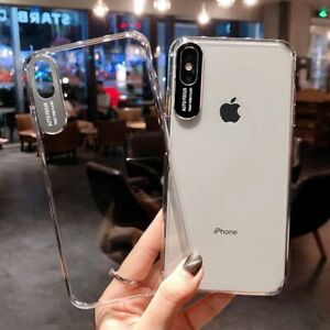 Clear Case For iPhone 6 7 8 XR XS Max Shockproof Skin Protective Phone Cover