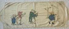 Antique EMBROIDERED Applique Dresser SCARF RUNNER Goldilocks 3 Bears FINISH ME