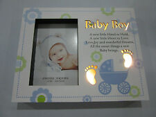 BABY BOY LED LIGHT UP NIGHT LIGHT PHOTO FRAME SHADOW BOX CHRISTENING BABY SHWER