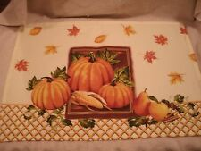 Set Of 4 13x19 Fall Pumpkin And Leaves Placemats