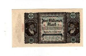 XXX-Rare genuine German 2 Million Mark weimar inflation banknote 1923  unc  !!