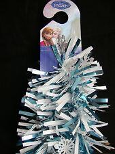 Disney Frozen Tinsel Garland Christmas Decoration White & Ice Blue w/ Snowflakes