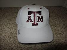 NWT Texas A&M Aggies NCAA Football Hat Cap Adidas Snapback White College Youth