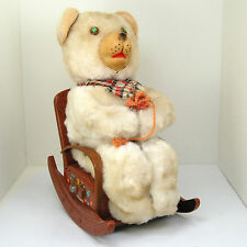 Vintage 1950s MOTHER BEAR Knitting Battery Operated Toy ALPS Company WORKS